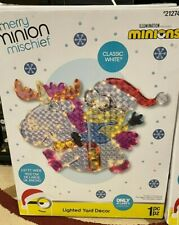 Gemmy 3 x 2 Ft 144 ct Led Lighted Christmas Yard Decor Minion Bob Riding Unicorn