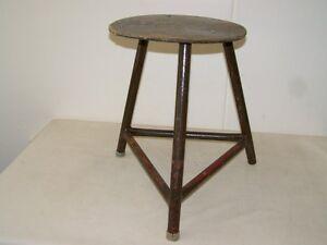 Old Garage Stool, Designer Stool, Wood Metal Vintage BAR Stool,