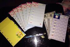 "Sanrio Hello Kitty Maru 3.75"" X 6.75"" Memo Organizer Refill Pages Planner LOT"
