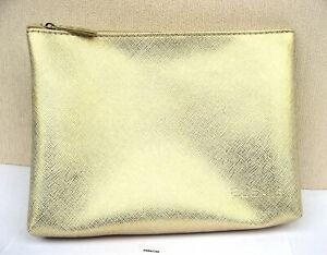 Elemis Large Gold Textured Lined Make Up Bag New