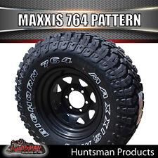 """17"""" black steel wheel rim & Maxxis 764 Bighorn 35X12.5R17L/T MUD tyre 35 12.5 17"""