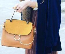 Tan Hoop Chain Cross Body Bag Faye Style
