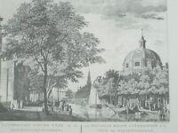 Pierre Fouquet De Luthersche Nieuwe Kerk Haringpakkerstoren etching