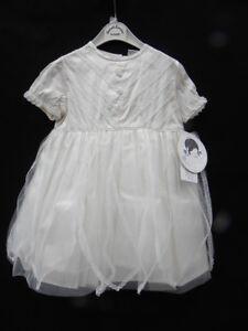NWT Sarah Louise Girl's Elegant Champagne or Ivory Silk & Tulle Dress  Sz. 18m
