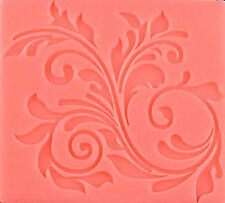 Leaf Scroll Lace Silicone Mold for Fondant, Gum Paste, Chocolate , Crafts NEW