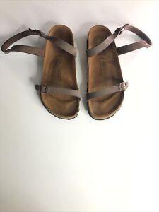 Birkenstock Daloa Narrow Fit Brown Mocca Sandals - Size 4.5/EUR 37