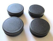 "4 - 1 3/4"" Round Tubing Black Plastic Hole Plug End Cap Cover 1.75 Pipe 13/4"