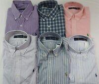 Polo Ralph Lauren Men Dress Shirt Button-Down Long Sleeve Pony Logo
