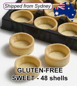 GLUTEN FREE MINI Round SWEET Tart Shells Tray Dessert Buffet 4cm - 48 shells