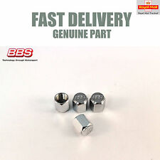 4x Genuine BBS Stainless Steel Valve Dust Cap Covers RS RM LM E88 NEW