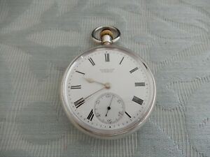 """High Grade Silver 1906 """"Rotherhams"""" Coventry Pocket watch for Russells Liverpool"""