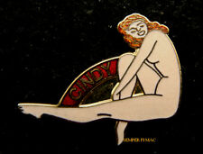 CINDY NOSE ART HAT LAPEL VEST PIN UP US ARMY AIR CORPS FORCE PILOT CREW GIFT WOW