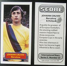 Pays-Bas-Barcelone-Johan Cruyff-Score UK Football Trade Card