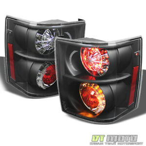 Black 2003-2005 Land Rover Range Rover HSE Lumileds LED Tail Lights Left+Right