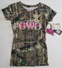 NWT Real Camo Women's T-shirt Girls with Guns Logo Slim Fit Hunting Medium $30