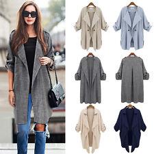 Womens Waterfall Duster Coat Long Sleeve Open Front Cardigan Jacket Tops Outwear