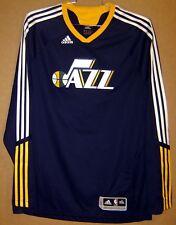 UTAH JAZZ LONG SLEEVE Navy Adidas Size 2XL PULLOVER NBA SHOOTING SHIRT