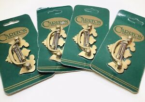 4 x Packs of Vintage Carlton Brassware Cabinet Draw Pull Handles Ornate Brass