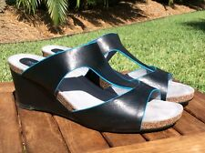 Softwalk Wedge Shoes Sandals Blue Size 10W