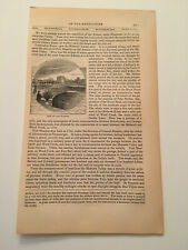 K41) View of Fort Stanwix Rome New York American Revolution 1860 Engraving