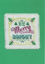 Finished Cross Stitch Christmas Card - Be Merry And Bright