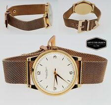IWC Portofino 18K Rose Gold Men's 37mm Watch with White Dial & Mesh Band