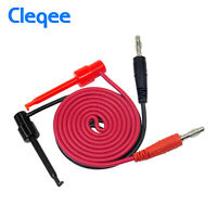 2PCS 4mm Banana Plug to Test Hook Clip Probe Cable Lead For Multimeter