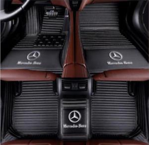 For 2005-2021 Mercedes-Benz all models luxury custom waterproof floor mats LOGO