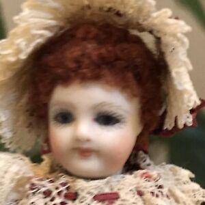 Dressed Cathy Hansen Mignonette French BebeAll-Bisque Antique Doll Reproduction