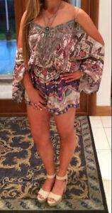 Camilla Kilim Odyssey Drop Shoulder Playsuit- Size 2