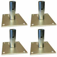 Pro-Series Scaffold Base Plate Accessory For Exterior Scaffolding- 4 Piece Set