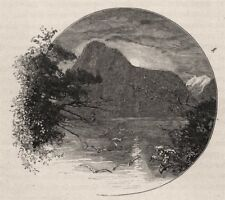 The Lion, Milford Sound. The West Coast Sounds. New Zealand 1890 old print