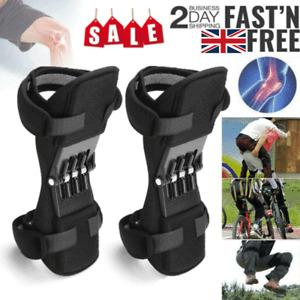 2PCS Power Spring Knee Pads brace Leg Support Rebound Lift Stabilizer Joint UK