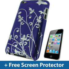 Viola Farfalla Custodia Rigida per Apple iPod Touch 4G 4a Generazione iTouch COVER
