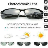 Men's Photochromic Sunglasses with-Polarized-Lens-100% UV For-Outdoor Sports New