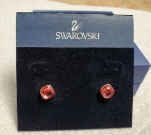 Swarovski Lea earrings indian pink New 1046152 NIB ~