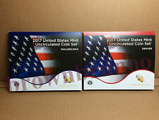 2017 Uncirculated Coin Set 20 Coins United States Mint 10-P 10-D 17RJ SEALED Box