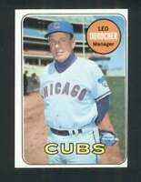 1969 Topps #147 Leo Durocher EX/EX+ Cubs MG 125103