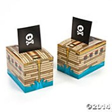 12 Pirate Ship Treat Boxes Birthday Party Favor