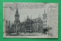 OBB) Bayern AK München 1906 Frauenkirche Neues Rathaus Platz Straße Architektur