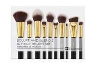 NEW BH Cosmetics 10-Piece SCULPT AND BLEND 2 Face & Eye Brush Set