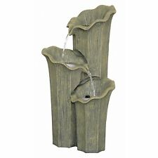SS12232 -  Three Lilies Cascading Sculptural Fountain w/Pump & LED Light Kit!