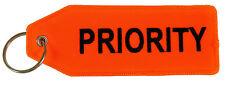 PRIORITY Schlüsselanhänger Keyring Schlüssel Anhänger neon orange Kofferanhänger