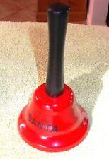 XMAS SANTA JINGLE BELLS RED COUNTER SERVICE Hand Bell Restaurant Shop Hotel