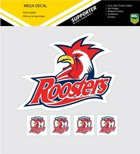 **NEW** NRL Sydney Roosters iTag Mega & Mini Decal Stickers Set
