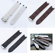 Genuine Leather Band Strap bracelet (FITS) LADYMATIC OMEGA 16mm w/ buckle clasp