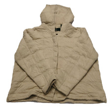 Orvis Jacket Womens XL Tan Quilted Cotton With Hood