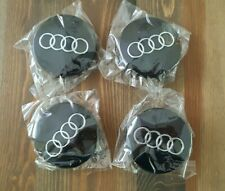Audi 60mm BLACK Alloy Centre Caps A1 A2 A3 A4 A5 A6 A8 Q5 Q7 TT Best Q UK Stock