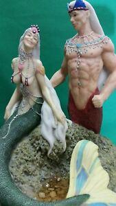 Mermaid Couple Statue (1990) 8 inch 1836/9500