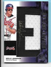 "2008 SP Authentic Kelly Johnson Atlanta Braves By the Letter ""E""Autograph 50/50"
